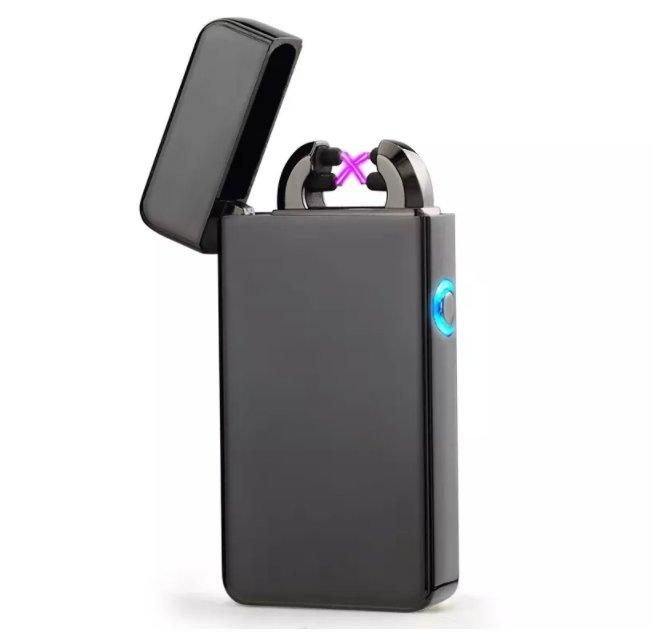 New Double ARC Electric USB Lighter Rechargeable Plasma Black