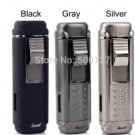 HONEST Fast Shipping W/ Cigar Punch Gadget Cigar Lighter Sliver