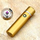 New Design High Quality Smoking Rechargeable Electric Windproof Flameless Cigar Lighter COLOR  GOLD