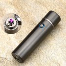 New Design High Quality Smoking Rechargeable Electric Windproof Flameless Cigar Lighter COLOR GREY
