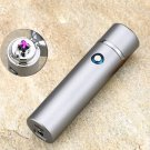 New Design High Quality Smoking Rechargeable Electric Windproof Flameless Cigar Lighter COLOR SILVER