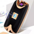 2016 new fashion and hot selling USB Electric Dual Arc Metal Flameless color: Black