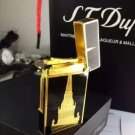 memorial lighter Gold Silver Triang le carved French brand Langqing gas lighter COLOR GOLD
