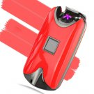 USB Electric Dual Arc Metal Flameless fingerprint Rechargeable Windproof Lighter COLOR RED