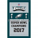 3ft x 5ft Philadelphia Eagles flag banner decoration flag with 2017 super bowl LII CHAMPIONS FLAG