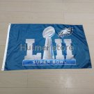 90x150cm new design home decoration flag with super bowl LII Philadelphia Eagles flag
