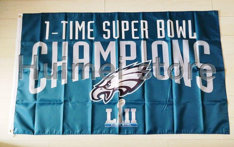 new design home decoration flag with super bowl LII Philadelphia Eagles flag