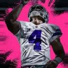 3x5ft digital printed No.4 polyester cowboys player logo Dallas Cowboys Flags