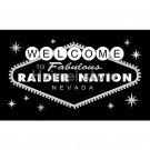 LAS VEGAS RAIDERS flag WELCOME RAIDER NATION Banner 90X150CM large Oakland Raiders
