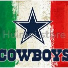 Dallas Cowboys team FLAG green white red strip American flag 100D Polyester custom Dallas Cowboys