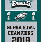 150x90cm polyester flag super bowl champions flag LII with Philadelphia Eagles flag