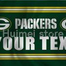 3x5ft Green Bay Packers flag polyester custom YOUR TEXT banner flag