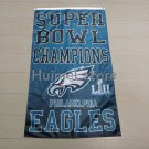 super bowl champions flag LII with Philadelphia Eagles flag with two grommet