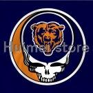 high quality Chicago Bears flag skull head banner 100D 3x5FT