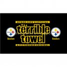 Polyester Pittsburgh Steelers flags Size 90*150cm (3*5ft) custom STEELERS NATION banners