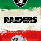 Oakland Raiders flags 3ftx5ft Green white red Stripes Banner 100D Polyester Flag