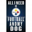 Pittsburgh Steelers Flags 90x150cm 3x5ft Polyester Digital Print custom Pittsburgh Steelers
