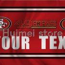 San Francisco 49ers flag digital print polyester flag custom sport San Francisco 49ers