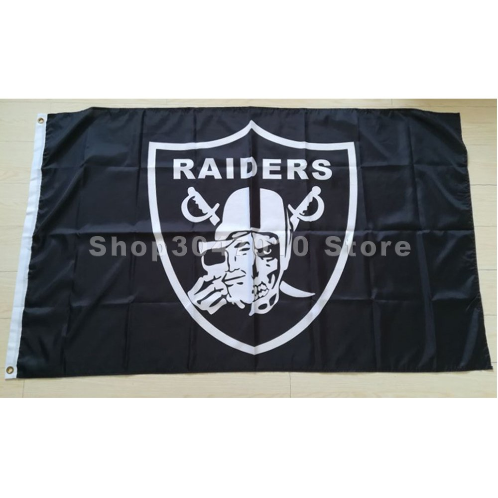 3x5ft Oakland Raiders LOS ANGELES RAIDER NATION Team Banner 100D Polyester The Rest Flag