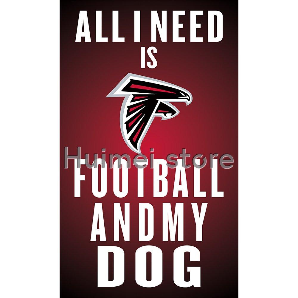 3ftx5ft all i need football flag banner custom Atlanta Falcons flag