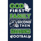 Newest custom Seattle Seahawks flag God First Family flag