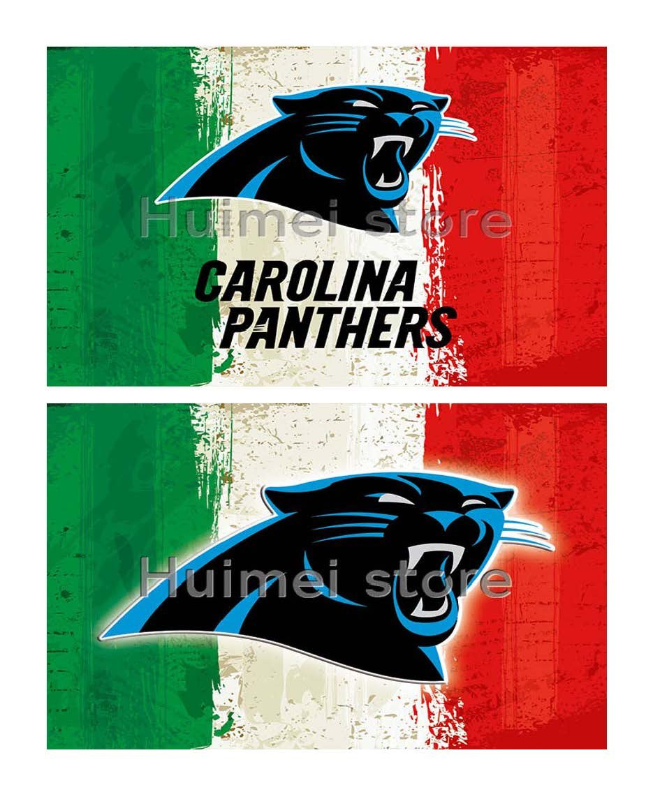 Carolina Panthers team FLAG green white red strip American flag