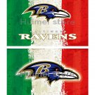 Baltimore Ravens team FLAG green white red strip American flag