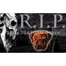 Cleveland Browns large skull head R.I.P.brown Flag 3x5FT NFL banner