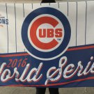 100D polyester Chicago Cubs 2016 world series flag 3ftx5ft with metal Grommets