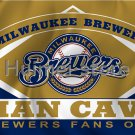 Milwaukee Brewers flag 3ftx5ft Banner 100D Polyester Flag metal Grommets