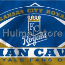 Kansas City Royals flag 3ftx5ft Banner 100D Polyester Flag metal Grommets