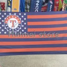 Texas Rangers Flag 3x5 FT Banner 100D Polyester Flag Brass Grommets, free shipping