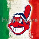 Cleveland Indians flag with green white red strip banner flag