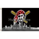 Pittsburgh Pirates flag 3' x 5' Banner brass metal holes Flag