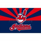 90X150cm Cleveland Indians flag 100D Digital Printing custom flag