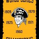 Pittsburgh Pirates Champions Flag 3X5FT Custom Pittsburgh Pirates Flag