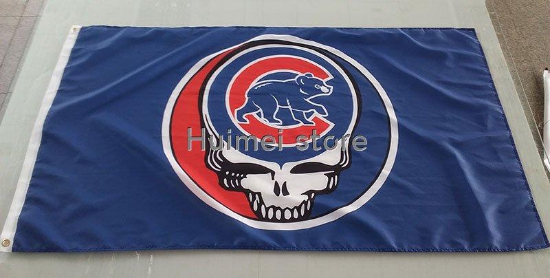 Chicago Cub flag 3x5ft custom fock the rest flag banner digital print champions flag banner