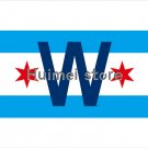 Chicago Cubs Large Flag 3x5 Banner Chicago City flag 3X5 Custom Chicago Cubs Flag