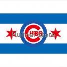 Chicago Cubs Large Flag 3x5 Banner Chicago City flag 3X5 Custom Chicago Cubs Flag