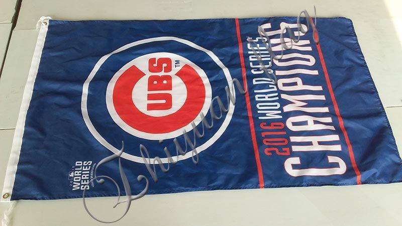 Chicago Cubs World Series Champions 2016 Flag 3x5 ft custom Banner 90x150cm