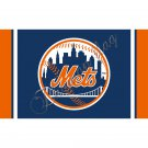 New York Mets flag 3ftx5ft Banner 100D Polyester Flag metal Grommets