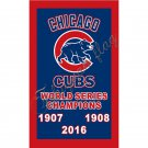Chicago Cubs CHAMPIONS 3ftx5ft flag banner 2016 World Series CHAMPS Indoor Outdoor