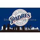 San Diego Padres Flag 3x5 city skyline custom flag