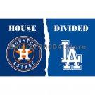 Houston Astros flag and Los Angeles Dodgers flag 90x150cm 3x5feet 100D Polyester