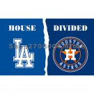 Houston Astros flag and Los Angeles Dodgers flag 90x150cm 3x5feet 100D Polyester