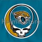 USA skull head flag Jacksonville Jaguars flag 3ftx5ft Banner 100D Polyester Flag metal Grommets