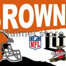 Cleveland Brown vertical flag 3x5ft 100% polyester Cleveland Browns banner