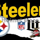 Pittsburgh Steelers flag for indoor and outdoor WITH metal ring Steelers flag