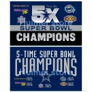 Dallas Cowboys Flag 5X Super Bowl Champions Flag