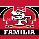 Familia style digital print custom San Francisco 49ers flag banner